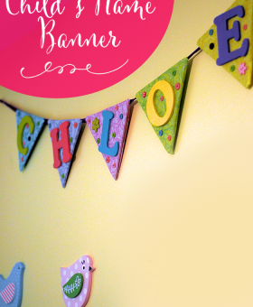 DIY Child's Name Banner