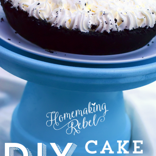 Do It Yourself Cake Plate