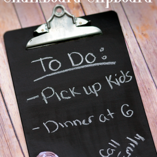Easy Chalkboard Clipboard Idea