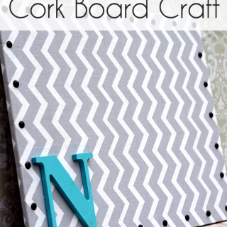 Easy Fabric Cork Board Craft