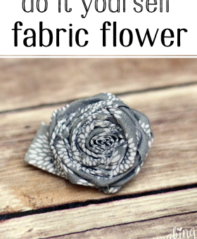 Simple Fabric Flower Tutorial