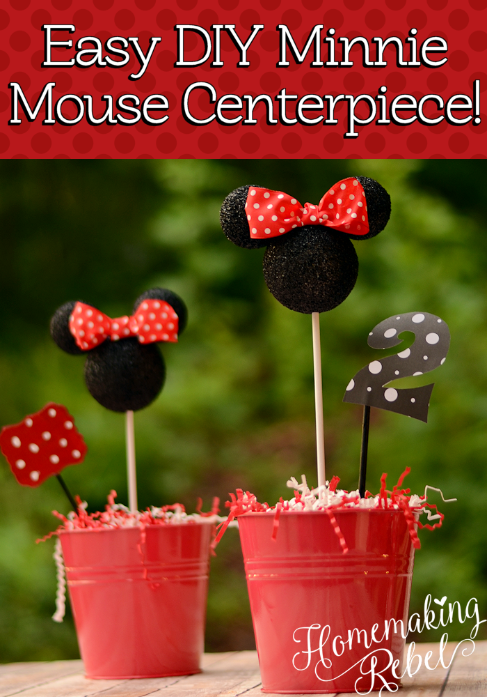 diy minnie mouse party decor minnie mouse centerpiece