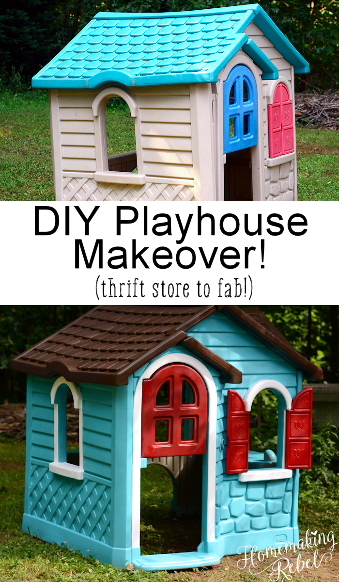 Do It Yourself Painted Playhouse Makeover