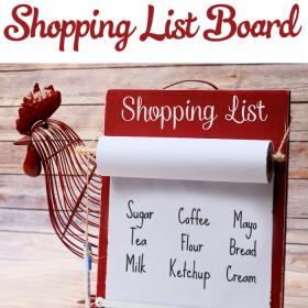 Kitchen Decor Ideas – DIY Shopping List Board