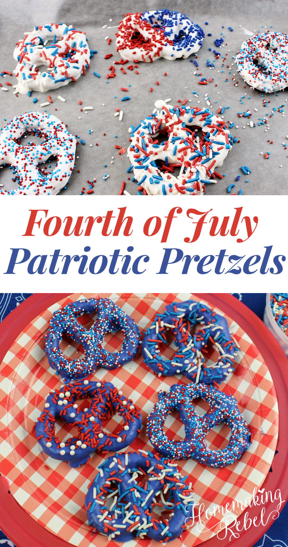 4th Of July Patriotic Pretzels