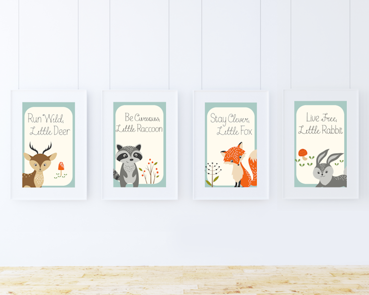 picture about Printable Woodland Animals known as Absolutely free Woodland Creatures Printables - Homemaking Revolt